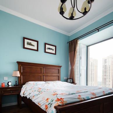 美式简约卧室布置