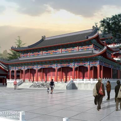 寺庙效果图,寺庙设计图_2355182