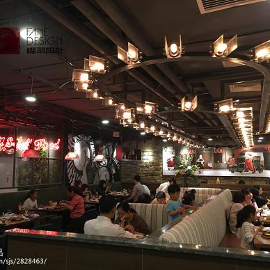 乐尚客世纪都汇店就餐区布局设计
