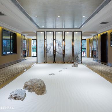 西郊半岛样板房展示大厅装修案例