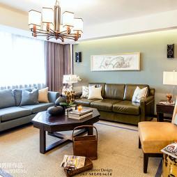 中式风格四居室客厅设计