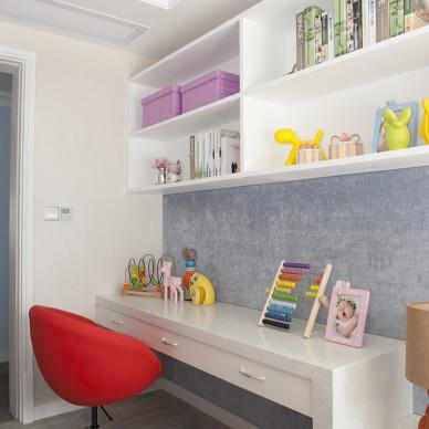 时尚美式儿童房书房设计
