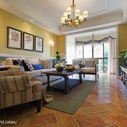 美式风格客厅装饰图