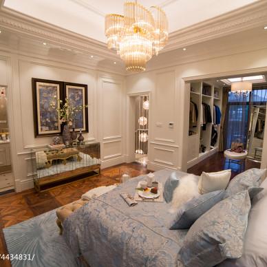 浪漫欧式别墅卧室布置