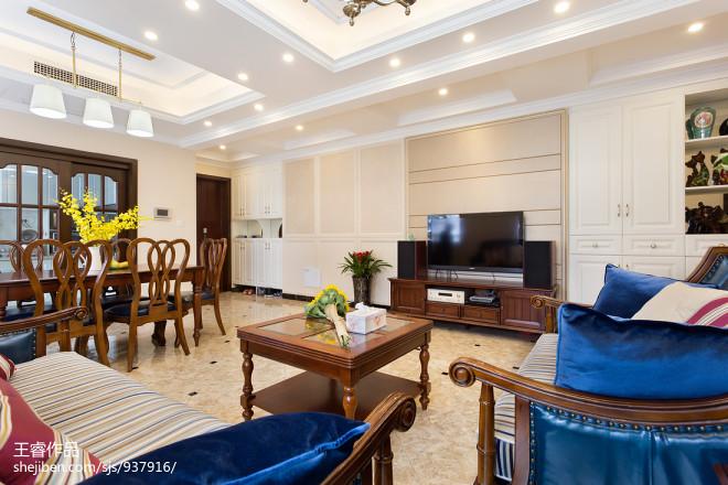 家居混搭风格四居室客厅装修
