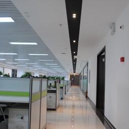 办公空间过道装修效果图