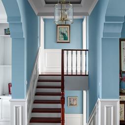 清新美式风格楼梯装修