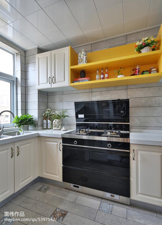 典雅时尚美式厨房设计图