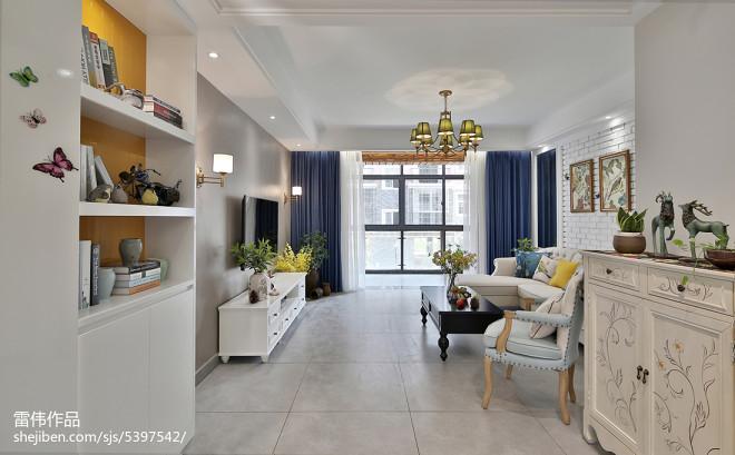 典雅时尚美式客厅设计图