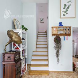 工装美甲店楼梯设计