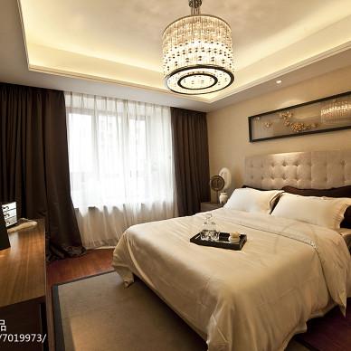 现代风格样板房卧室设计