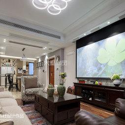 美式格调客厅设计图