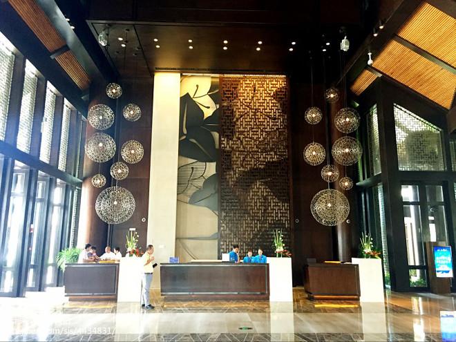 文昌鲁能希尔顿酒店大厅设计