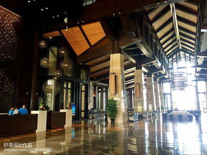 文昌鲁能希尔顿酒店大厅过道设计