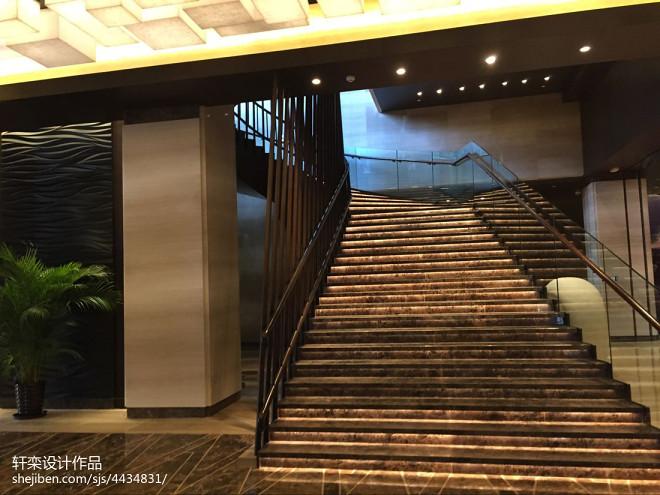文昌鲁能希尔顿酒店楼梯效果图