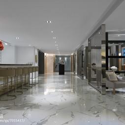 工装售楼中心过道设计