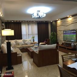 中式风格三居室客厅设计