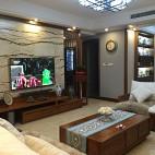 中式风格电视背景墙装修