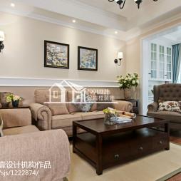 现代美式风格客厅设计案例