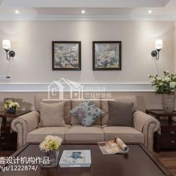 美式风格客厅沙发背景墙装修