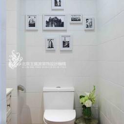 混搭风格卫浴照片墙