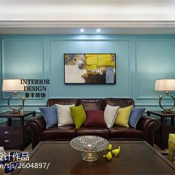 家装美式风格客厅设计效果图