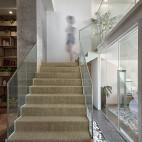 香年广场办公室楼梯设计效果图