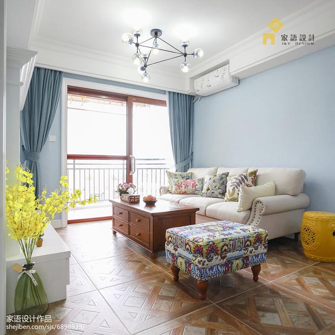 清新美式风格家居客厅布置