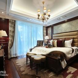 家装美式风样板房卧室设计