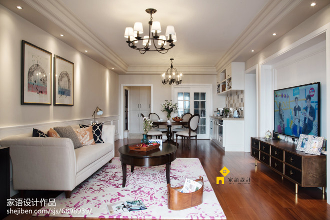 温馨美式风格客厅设计效果图