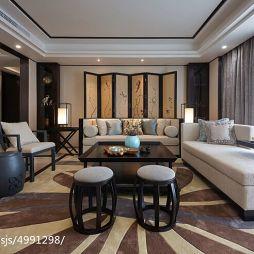 别墅中式风格客厅装修