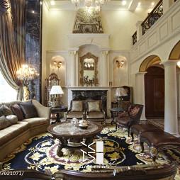 尊貴美式大別墅客廳裝修