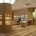 护肤品店展示柜设计案例