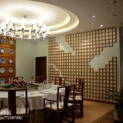 寻味园餐厅背景墙装修