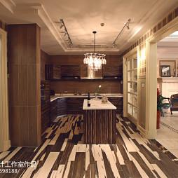 家装美式风格厨房装修效果图