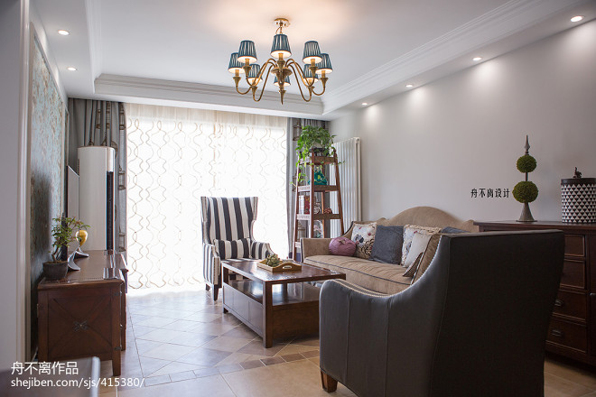 美式风格别墅客厅装饰图