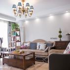清新美式风格客厅设计案例