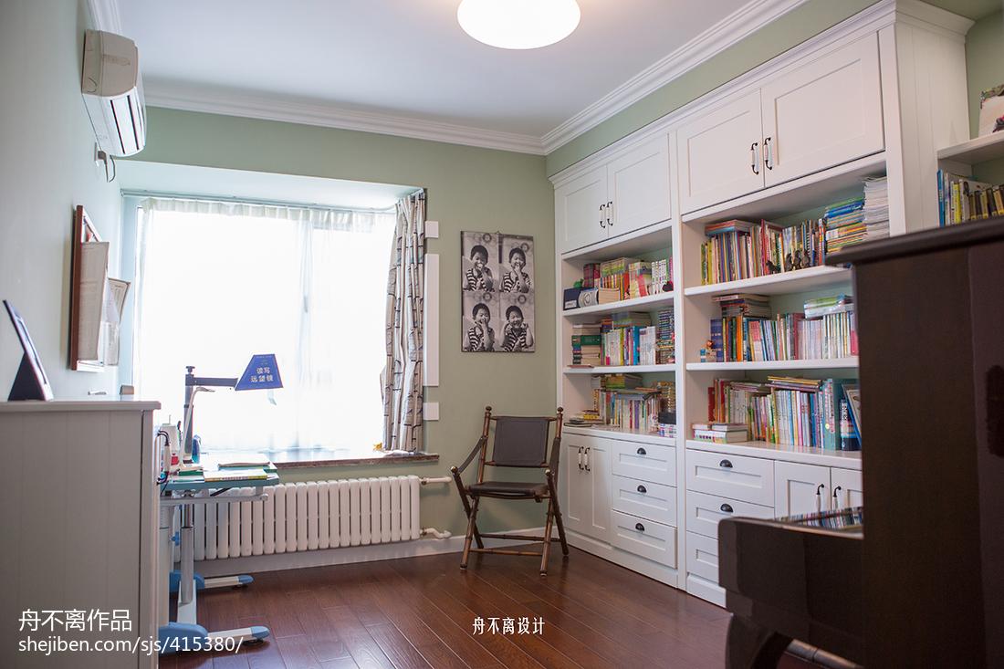 素雅美式风格书房设计