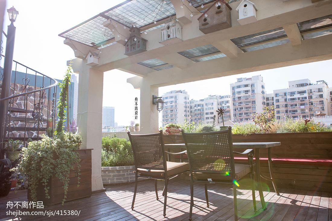 美式风格别墅花园装修效果图