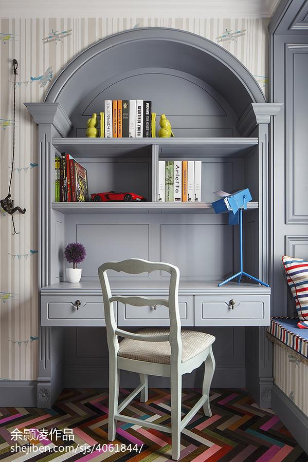 现代风格儿童房书房装修