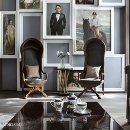 高级服装定制店照片墙设计