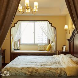 家装美式风格窗台效果图