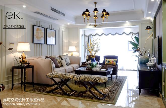 典雅美式风格客厅设计