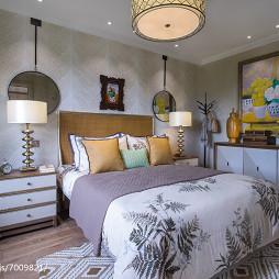 家装欧式风格样板房卧室布置