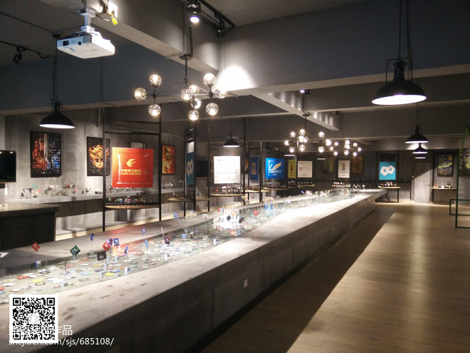 看钢筋图_15万元商业展示400平米装修案例_效果图 - 工业风展厅 - 设计本
