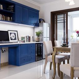 蓝色系北欧风格书架设计