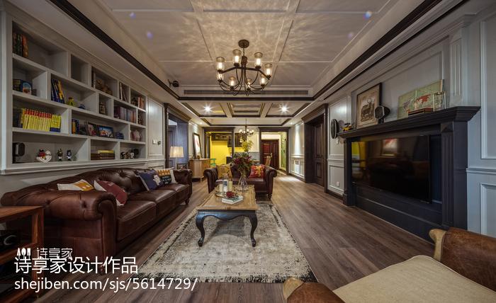 经典美式风格客厅装修