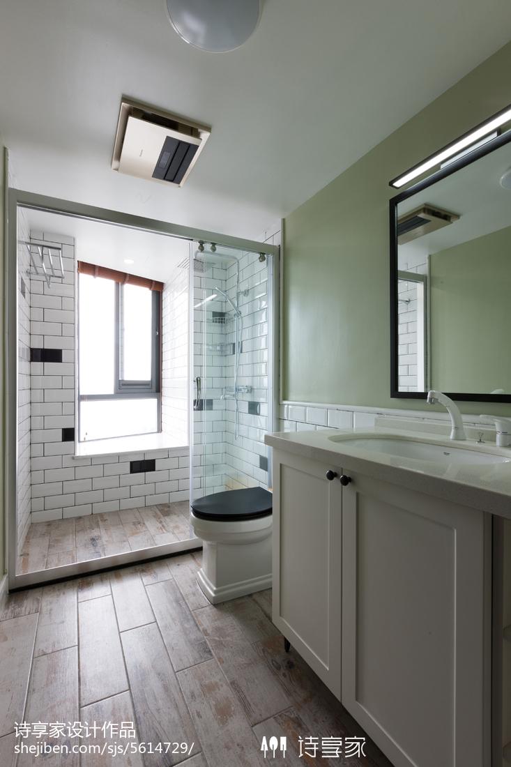 家装美式格调卫浴效果图