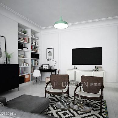 有点复古的北欧风家装客厅效果图_2423849