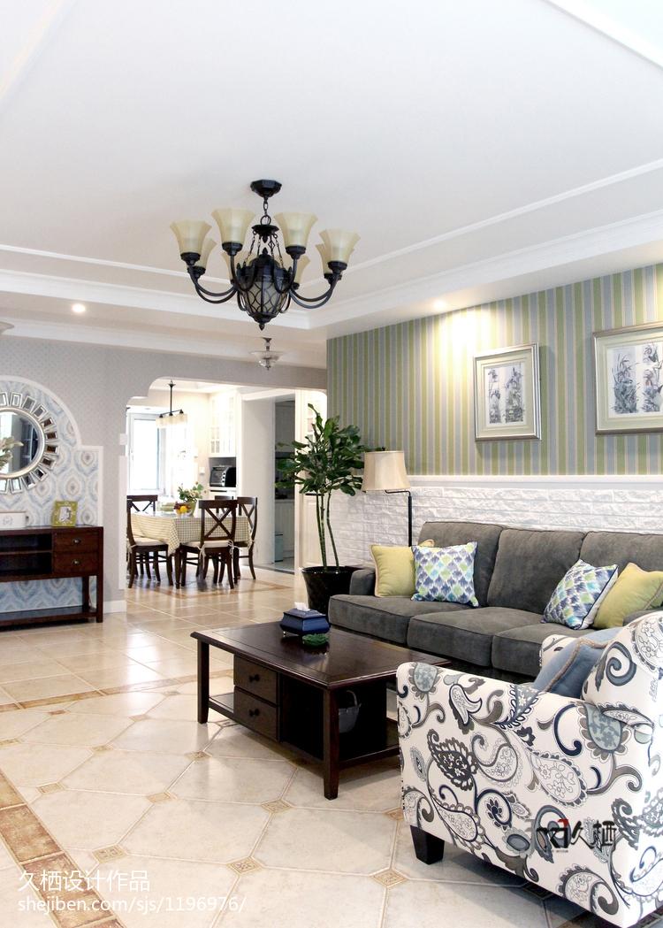 美式风情客厅装修案例